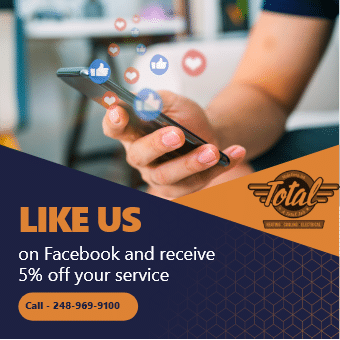 Like Us on Facebook and receie 5% off your service coupan